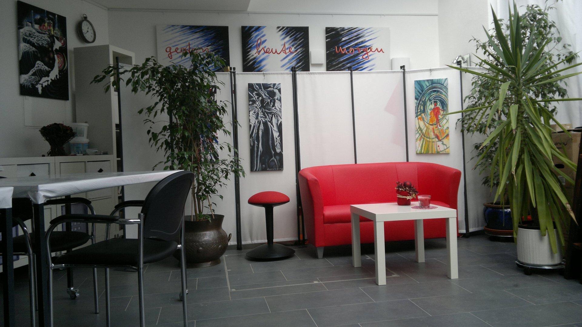 Kunstatelier, Galerie, augsburg, Malerei, Figuren, Beton, Keramik