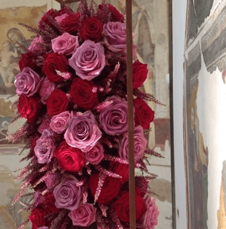 composizioni con rose