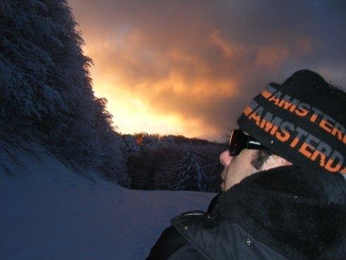 Il tramonto in montagna