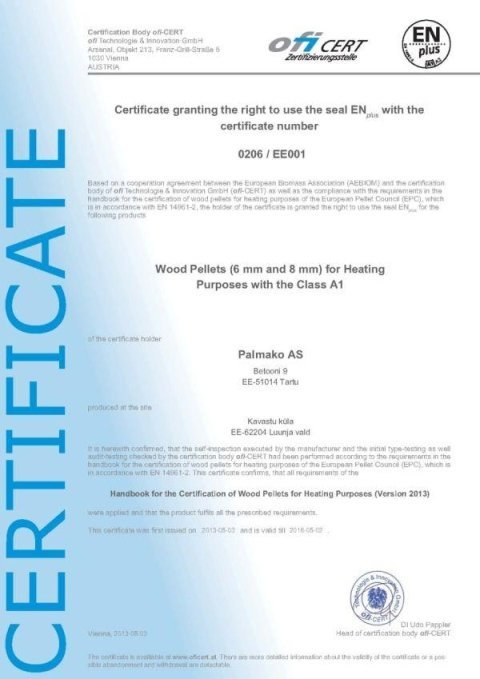 foglio certificato