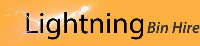 lightning bin hire logo