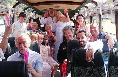 A wedding bus