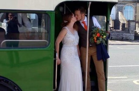 A couple in the bus