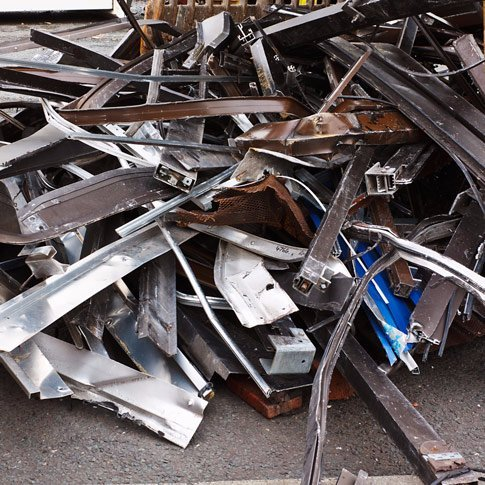 metal scrap pile