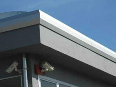 telecamere di sicurezza all'esterno di un edificio