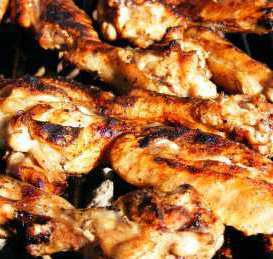 chicken meat and bones