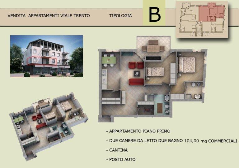 appartamento, trilocale