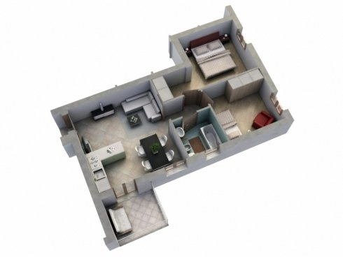Tipologia appartamento: trilocale