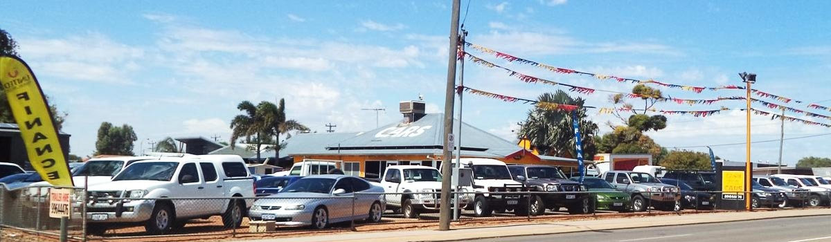 Lot filled with available used cars in Geraldton