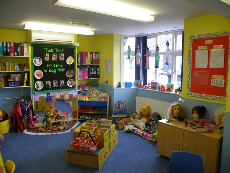 Interior view of the childcare centre in Staveley
