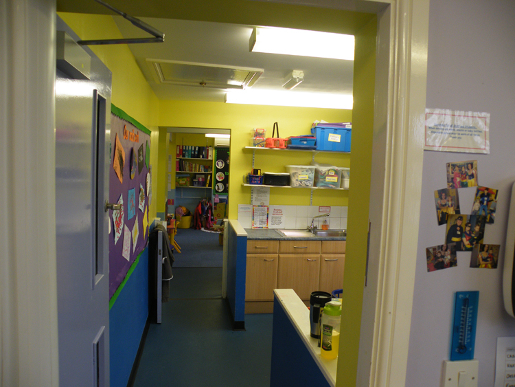 Interior view of the Tiny Treasures centre in Staveley