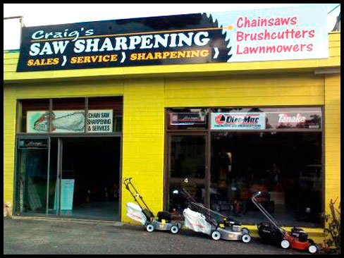 Craig's saw sharpening shopfront