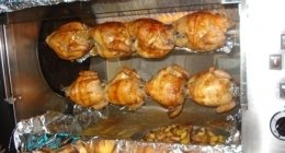 polli allo spiedo, polli arrosto, girarrosto