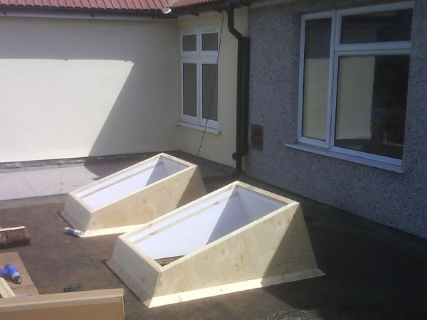 Skylights being fitted by All Roofing & Guttering