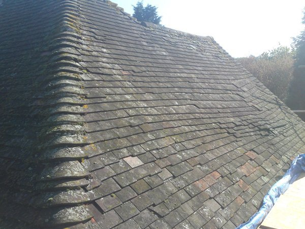 A roof in need of repair by All Roofing & Guttering
