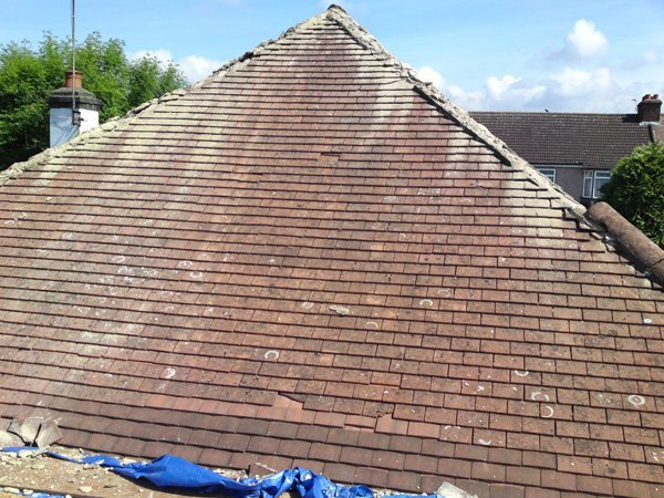 A roof before being repaired by All Roofing & Guttering