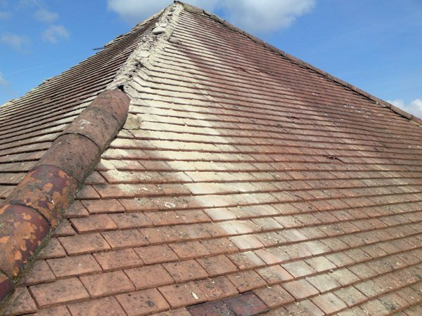 A client's roof before work has been carried out by All Roofing & Guttering