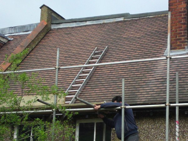 Roofing work being done by All Roofing & Guttering