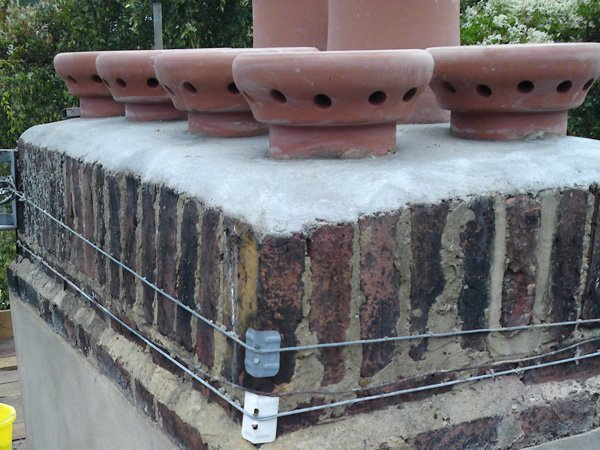 Chimney stacks repointed by All Roofing & Guttering