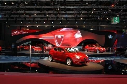 Struttura padiglione Alfa Romeo
