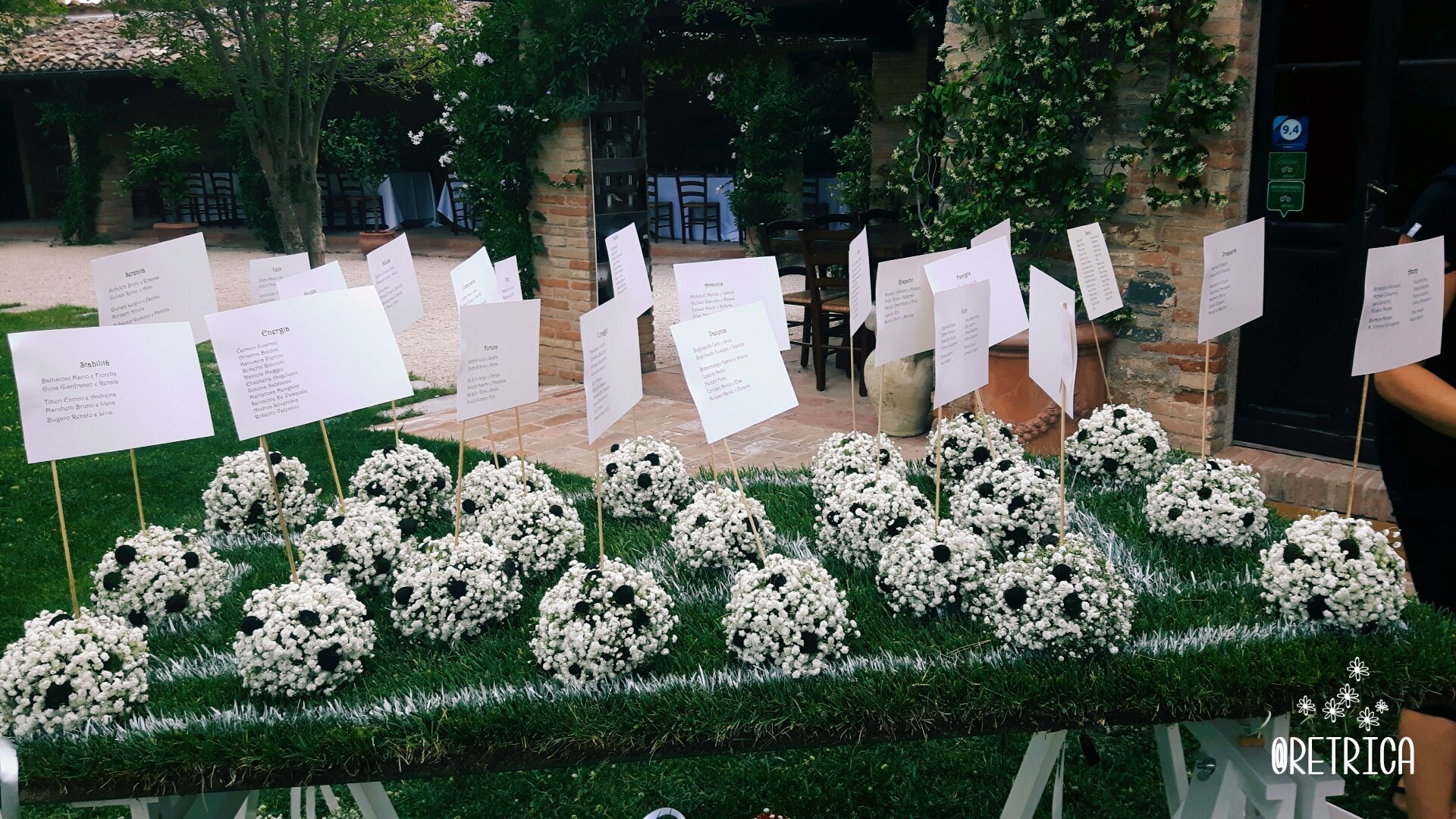 esposizione di bouquet