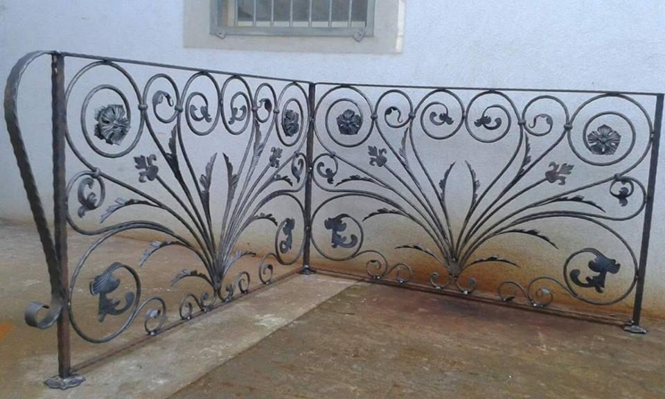 Ringhiera di un balcone in ferro