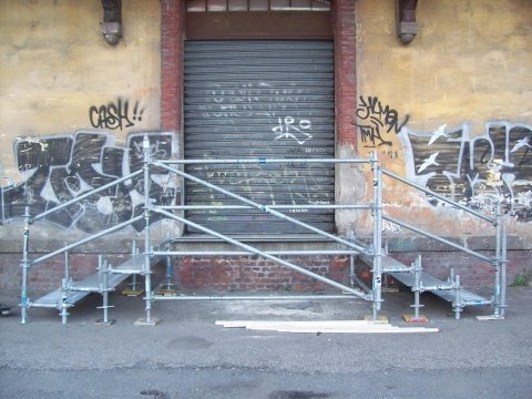 Scale visione frontale Magazzini P.ta Genova-Milano