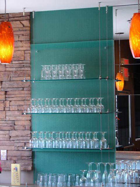 Glass shelves installed at the store in Lake Havasu City