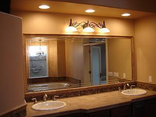 Custom mirror installed in the restaurant in Lake Havasu City