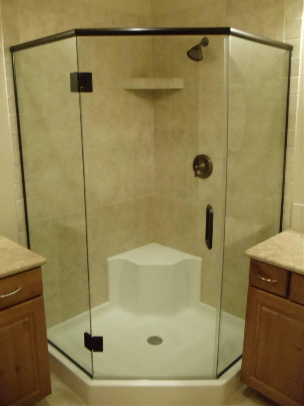 Custom shower cabinet installed in Lake Havasu City