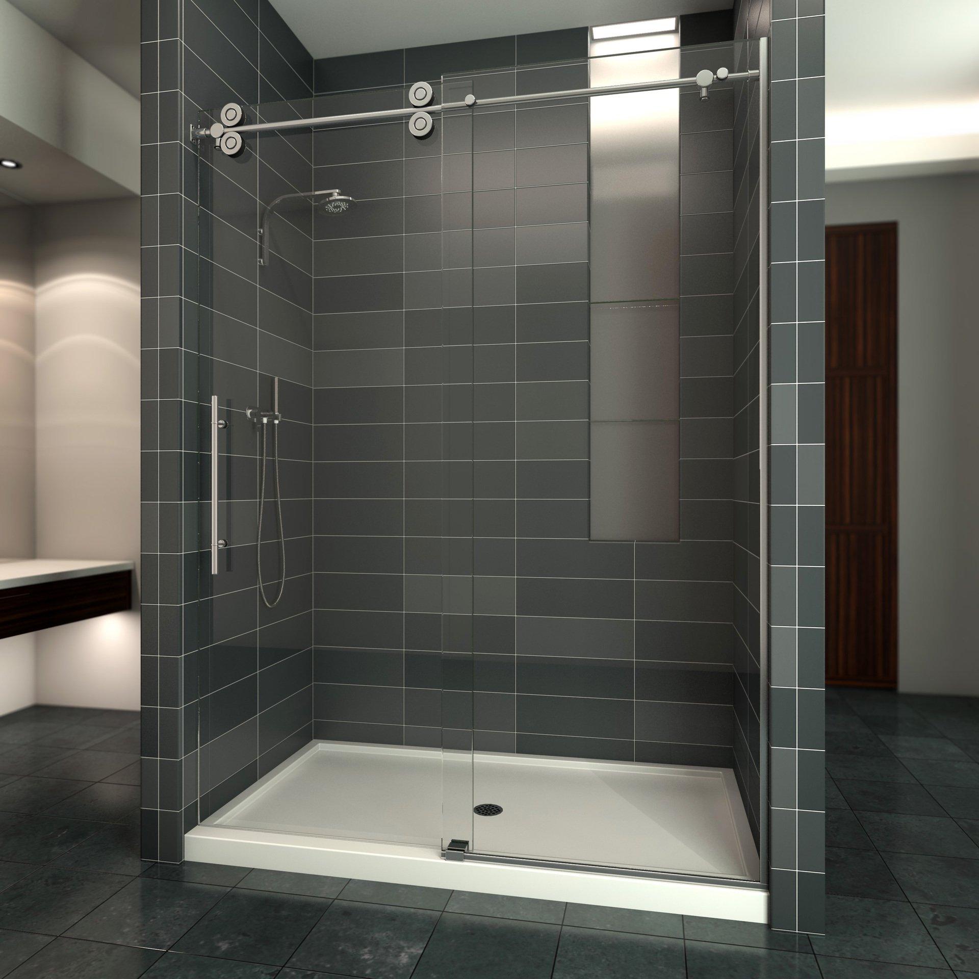Custom shower door installed at the residence in Lake Havasu City