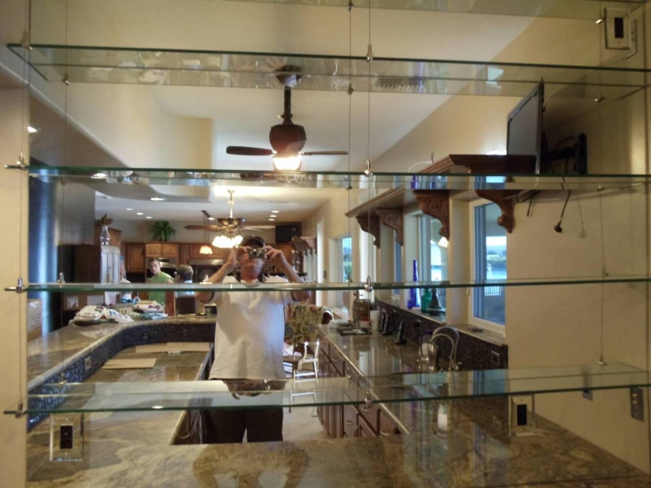Custom glass shelves in Lake Havasu City