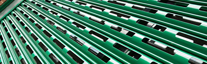 See through shutter - Hampshire - Britannia Security Shutters - Green see through shutter