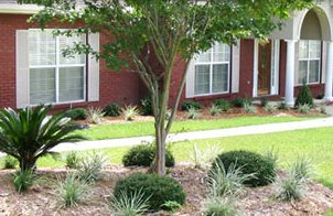 The beautiful result of landscaping service in Enterprise, AL