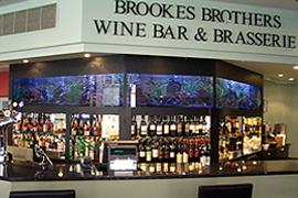 Aquarium at a wine bar