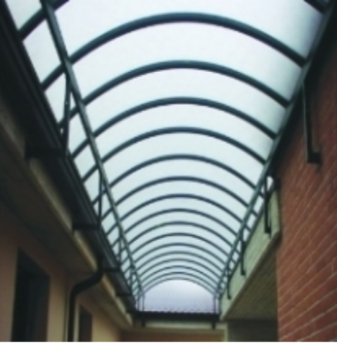 tettoia a galleria