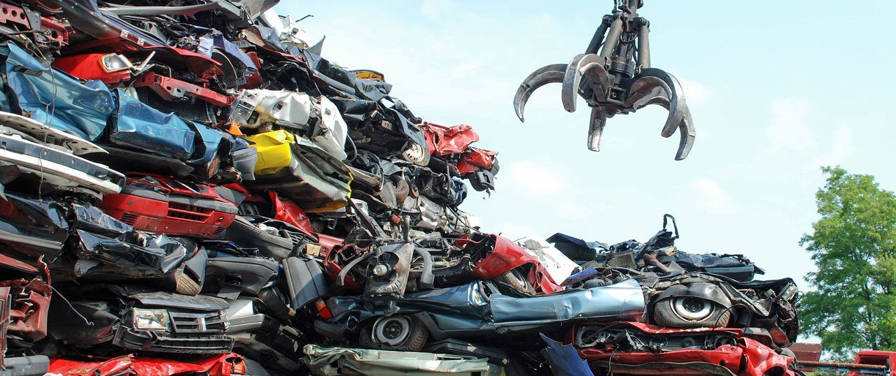 Scrap vehicle collection at 4 Counties Recovery Services
