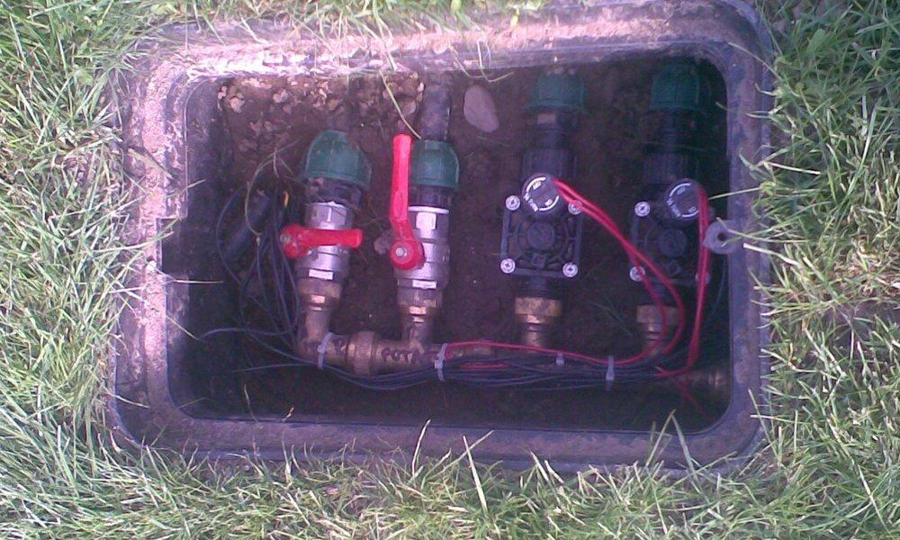 delle tubature di un impianto di irrigazione