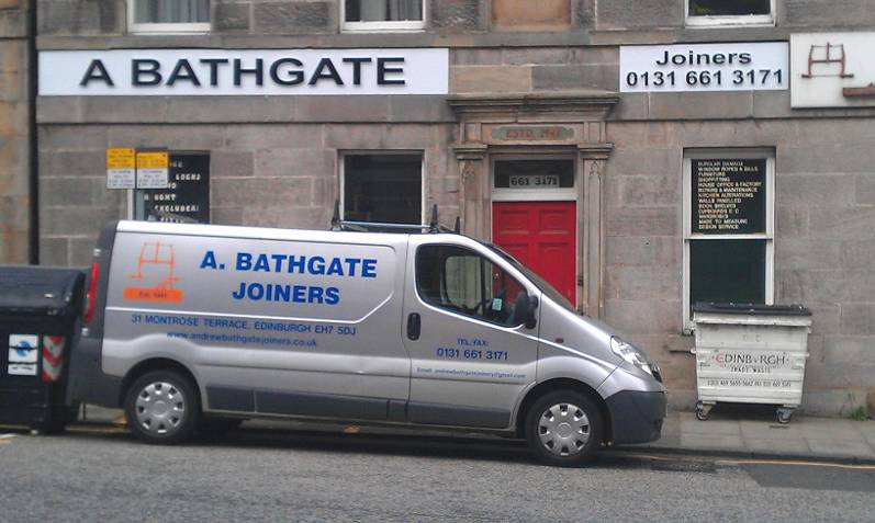 A Bathgate Joiners company van