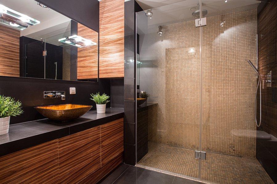 Fabulous all glass unique bathroom