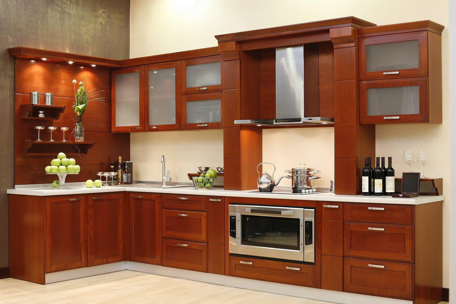 Custom wood cabinets that never go out of style