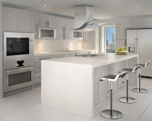 Modern white kitchen made to order