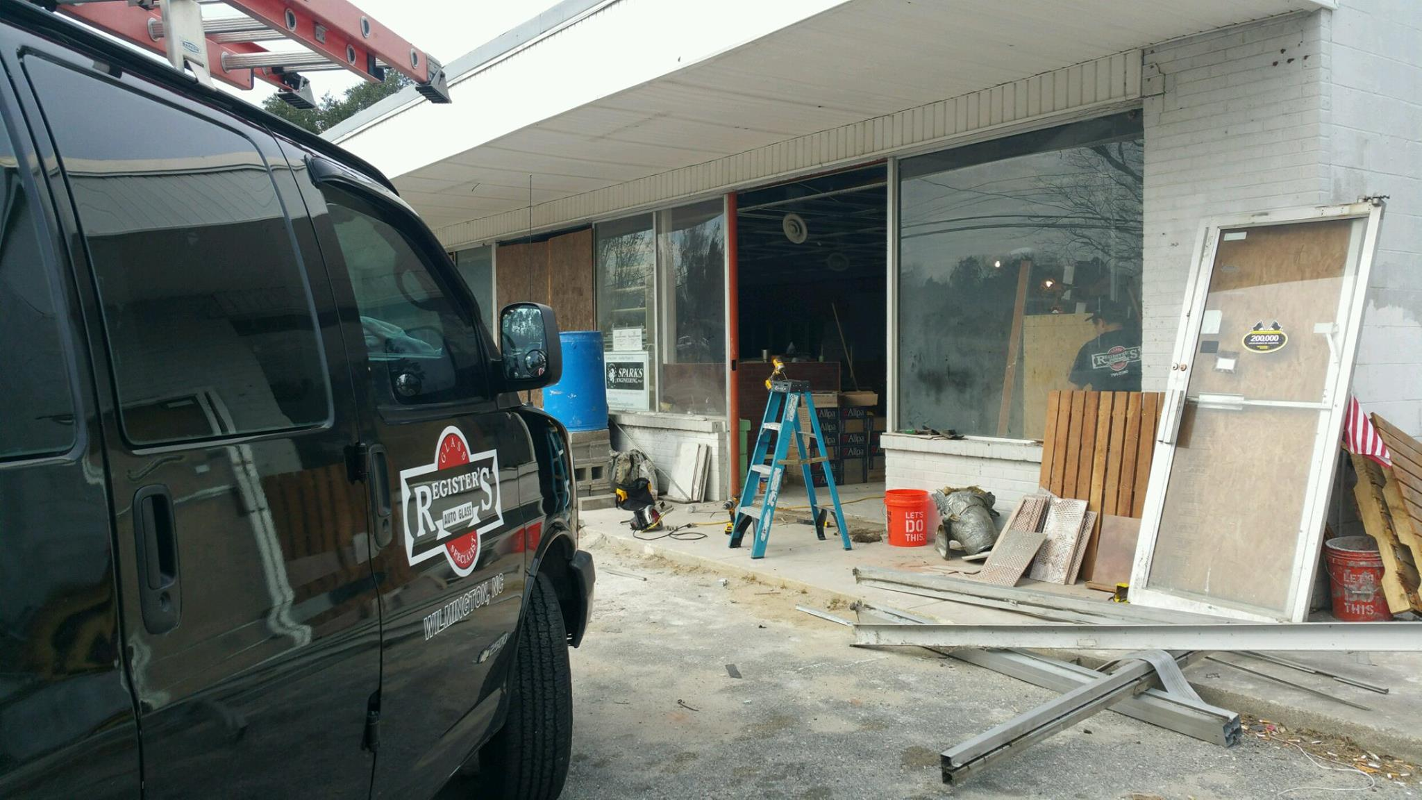 Store Front Window Installation Southport, NC