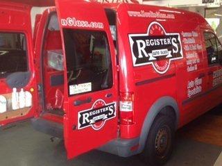 Registers Auto Glass Truck Hampstead, NC