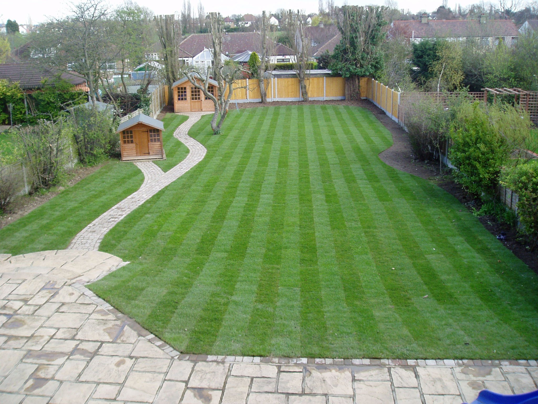 attractive garden area