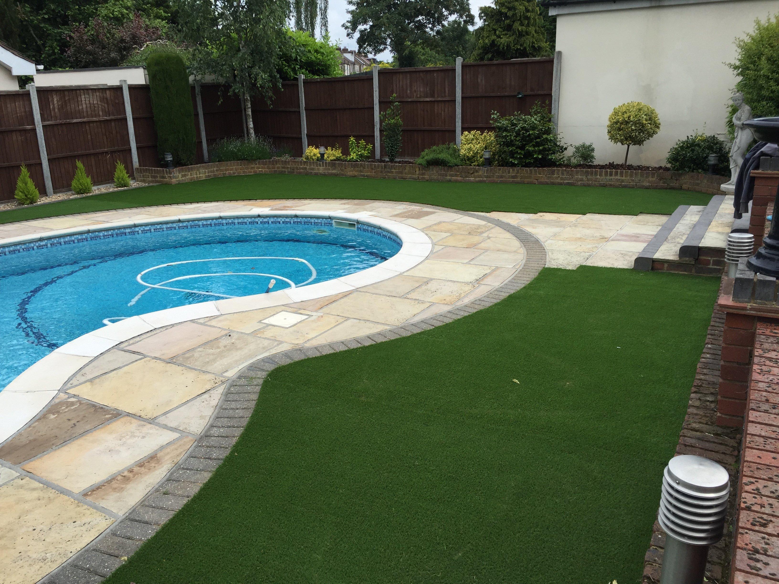 swimming area lawn
