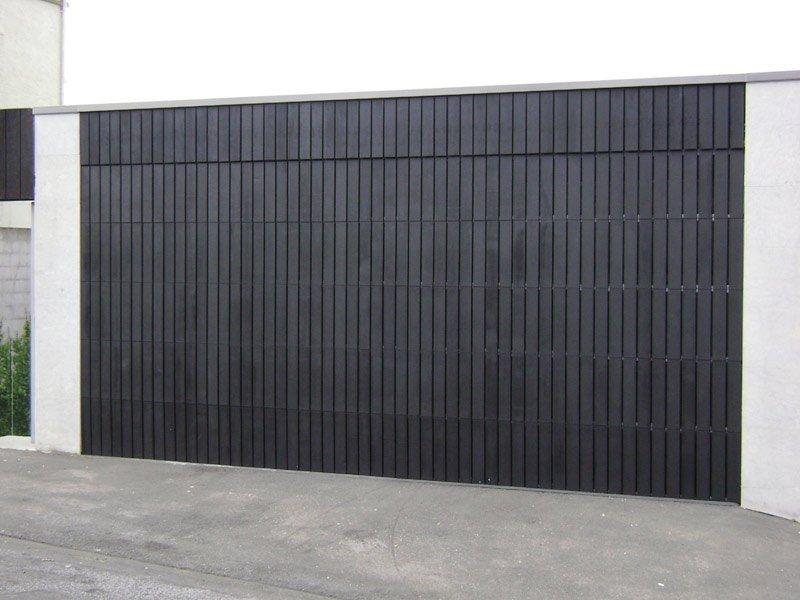 black custom cedar garage door