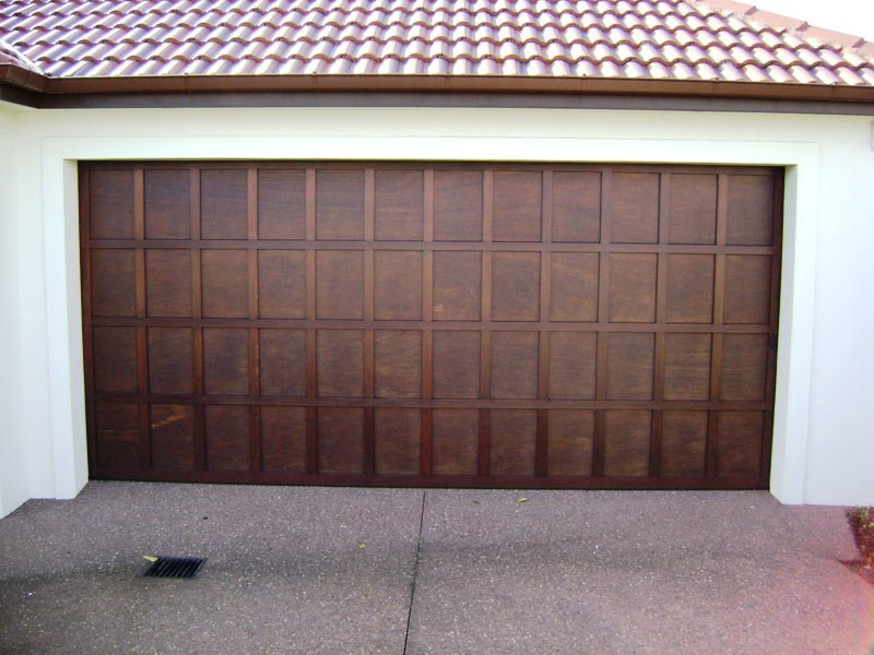 cedar play batten garage door
