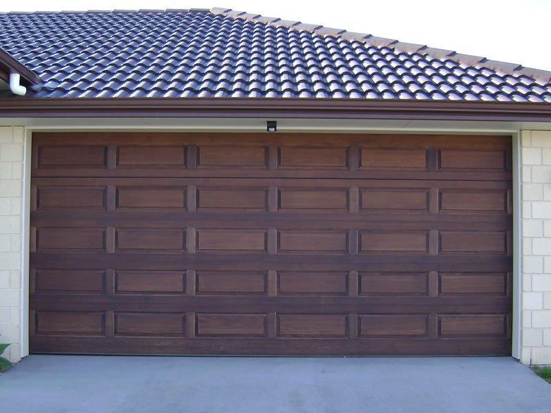 cedar raised panel garage door