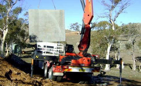 app truck holding concrete